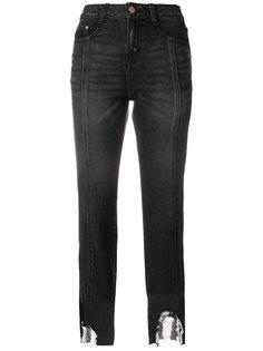 джинсы с прорванным подолом Sjyp