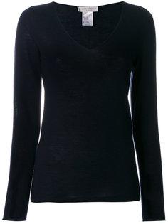 свитер с V-образным вырезом и длинными рукавами  Le Tricot Perugia