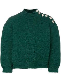 укороченный свитер с завышенным воротом Veronique Leroy