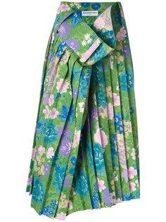 юбка с цветочным принтом Tubular  Balenciaga