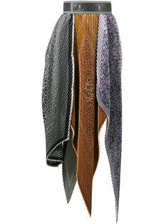 плиссированная юбка с завышенной талией Loewe