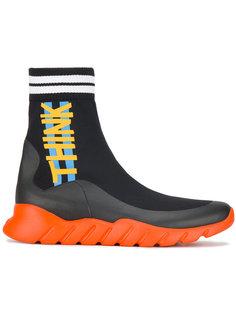 беговые кроссовки с носочной вставкой Fendi