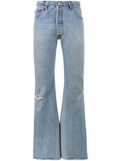 широкие джинсы с завышенной талией Re/Done