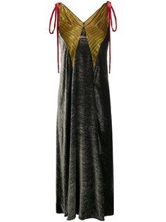бархатное платье макси Attico