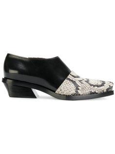 туфли с эффектом змеиной кожи Proenza Schouler