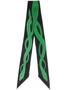 шарф с вышитой змеей Rockins