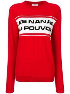 свитер со слоганом Sonia Rykiel