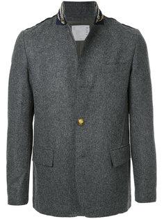 декорированный пиджак с воротником-стойкой Sacai