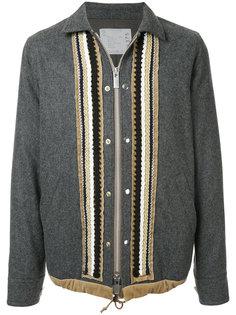 пиджак в стиле милитари на молнии Sacai