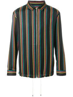 полосатый пиджак на молнии Palm Angels