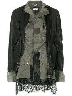 комбинированная куртка с кружевной отделкой Pihakapi