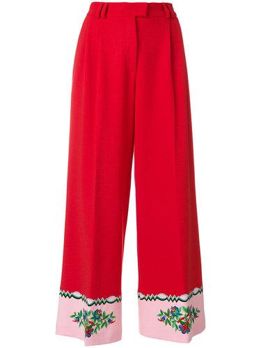 широкие брюки с вышивкой Vivetta