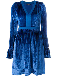 бархатное платье с V-образным вырезом Twin-Set