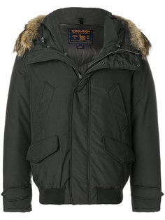 пальто с оторочкой мехом койота  Woolrich