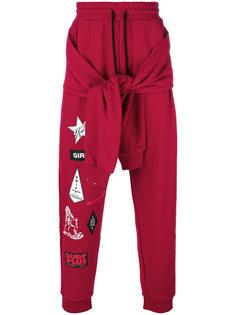 спортивные брюки с принтом в тематике серфинга Ex Infinitas