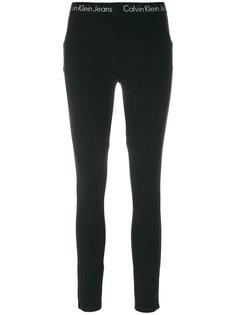 леггинсы с логотипом и эластичным поясом  Calvin Klein Jeans