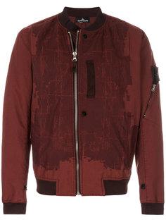 куртка-бомбер с абстрактным принтом Stone Island Shadow Project