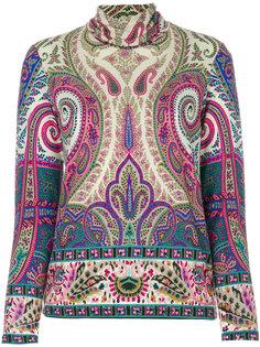 блузка-водолазка с принтом пейсли  Etro