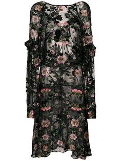 платье Evelina с цветочным рисунком Preen By Thornton Bregazzi