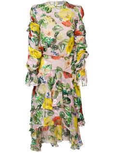 платье Oriana с цветочным принтом Preen By Thornton Bregazzi