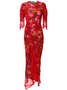 платье Agnes из тюля с цветами Preen By Thornton Bregazzi