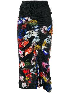 юбка Adelaide с цветочным принтом Preen By Thornton Bregazzi