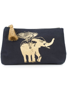 Flying Elephant cosmetic pouch Figue