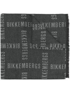 шарф с принтом логотипов Dirk Bikkembergs