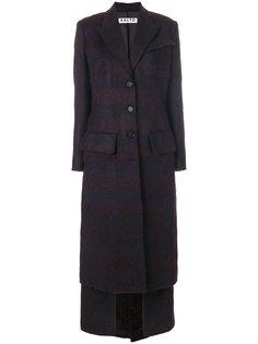 длинное пальто на пуговицах Aalto
