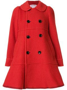 двубортное расклешенное пальто  Comme Des Garçons Girl
