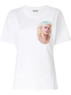 футболка с блестящим принтом Aalto