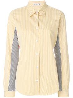 лоскутная рубашка в полоску Aalto