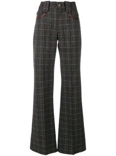 расклешенные брюки в клетку  Marc Jacobs