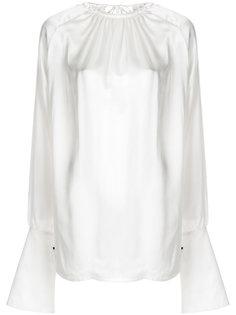 присборенная блузка с объемными рукавами  Ann Demeulemeester