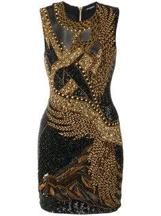 платье без рукавов с бисерной отделкой Balmain