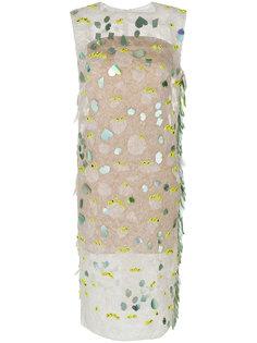 декорированное платье-шифт Marni