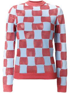 свитер в клетку с круглым вырезом Marni