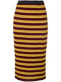 юбка-карандаш в рубчик Marni
