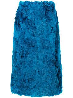 юбка-карандаш из меха ламы Marni