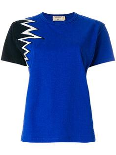 футболка с контрастным рукавом  Maison Kitsuné