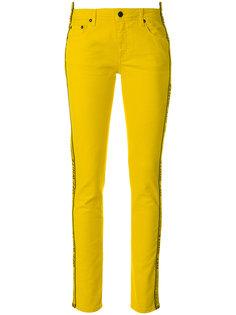 джинсы скинни с лампасами Off-White