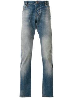 джинсы прямого кроя с простроченной отделкой Philipp Plein