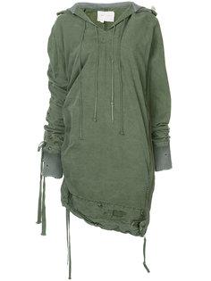 асимметричная куртка-накидка Greg Lauren
