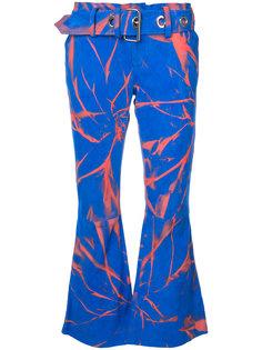брюки с принтом брызг краски Marquesalmeida