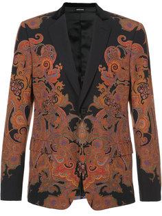 пиджак со сплошным принтом Alexander McQueen