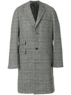 однобортное пальто в клетку Paul Smith