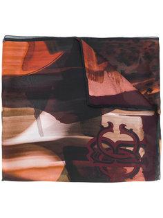 шарф с логотипом Roberto Cavalli