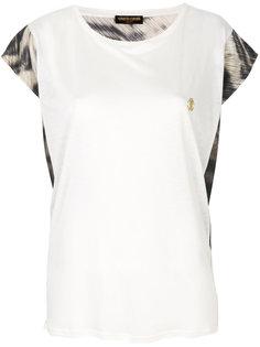 свободная футболка с круглым вырезом  Roberto Cavalli