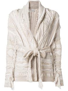 пальто-кардиган крупной вязки  Laneus