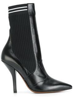 туфли-лодочки с носком Fendi